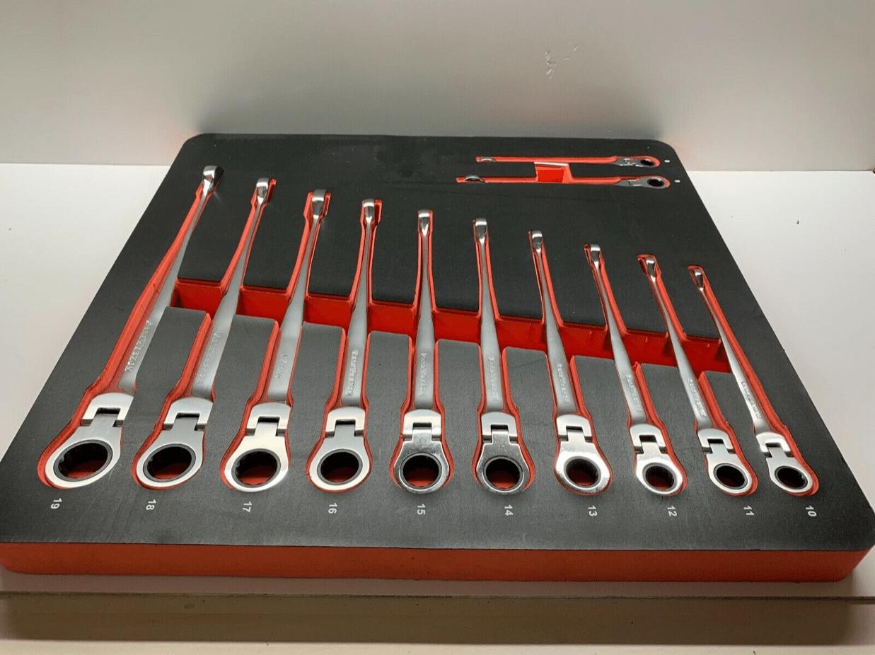 GearWrench Ratschenschlüssel/Maulschlüssel Flex Head 8-19mm