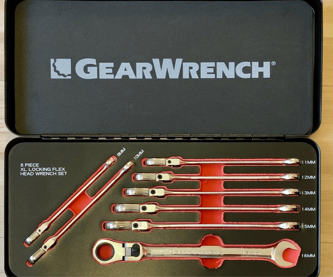 GearWrench Maulschlüssel Ratschenschlüssel Flex Head 8-16mm