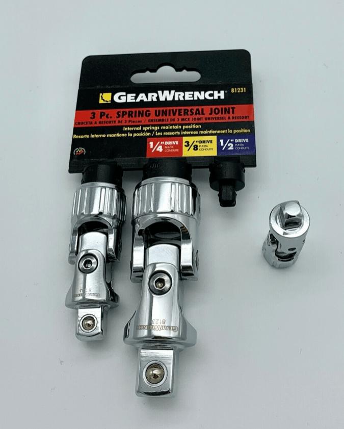 GearWrench 3 Kardan-Gelenksätze 1/4