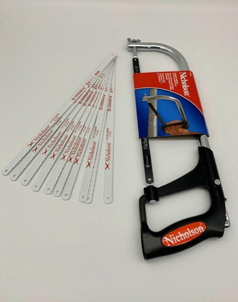 NICHOLSON 80950 Eisen/Metallsäge Metallsägeblätter Bügelsäge Handsäge +20 Sägeblätter