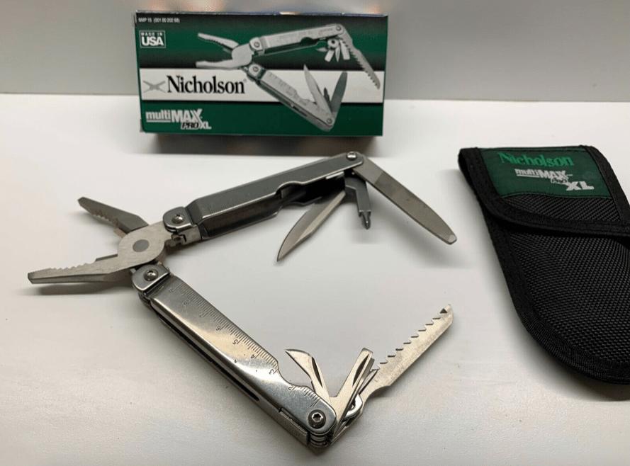 Nicholson multiMAX NMP 15 Multitool Taschenmesser 15 Werkzeuge Edelstahl