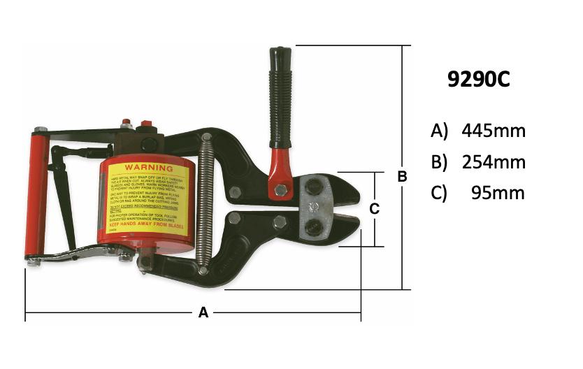 9290C mit Maßen